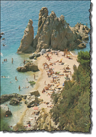 Old postcards show a beach that is no longer there